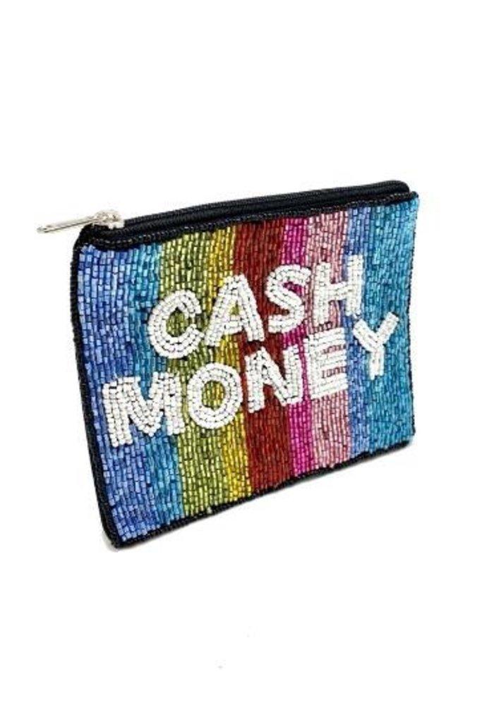 """Cash Money"" Beaded Pouch"