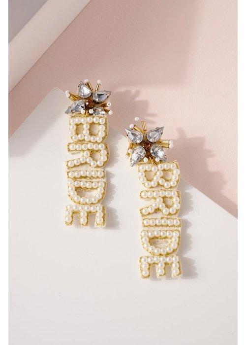 """Pearl """"Bride"""" Earrings"""