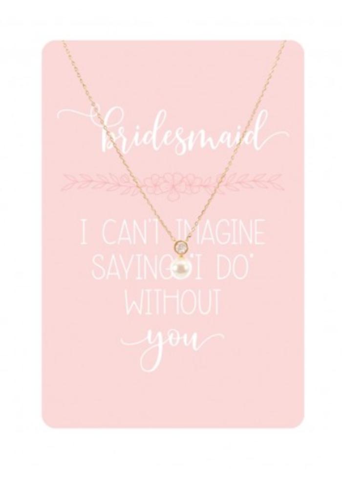 Bridesmaid Keepsake Card Necklace