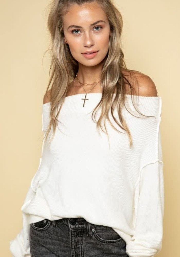 Off-The-Shoulder Ribbed Top