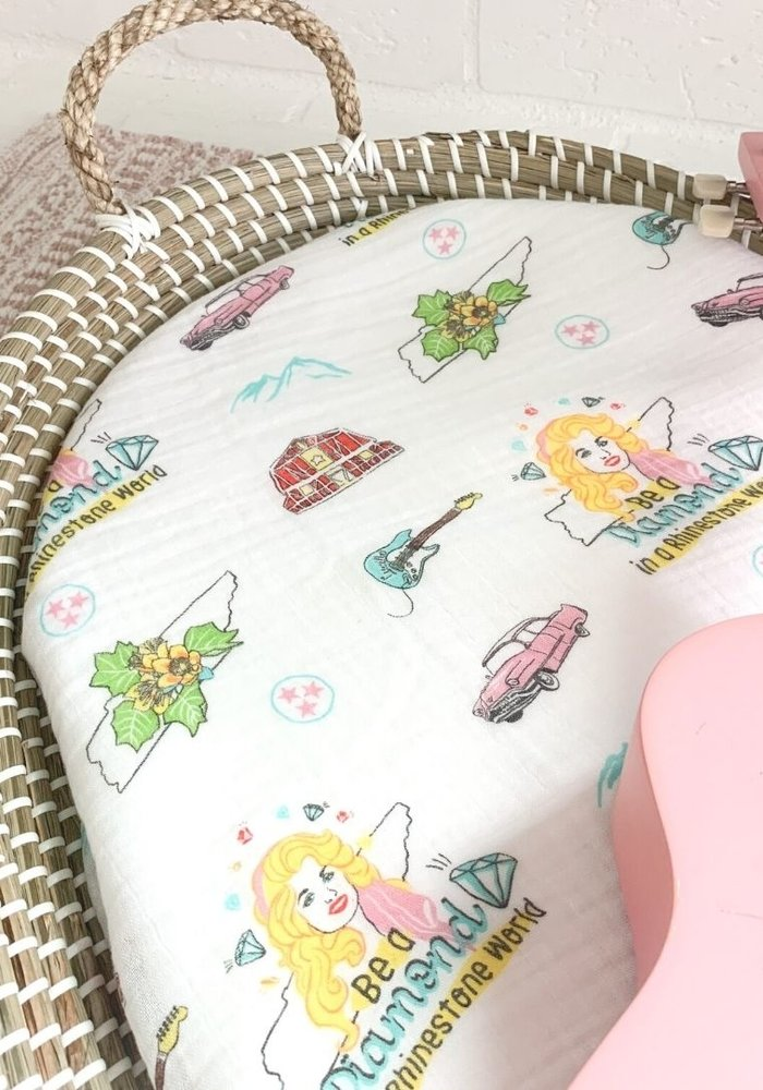 Tennessee Motif Baby Girl Swaddle Blanket