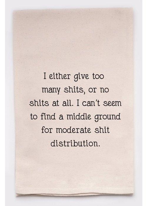 """Moderate Sh*t Distribution"" Funny Tea Towel"
