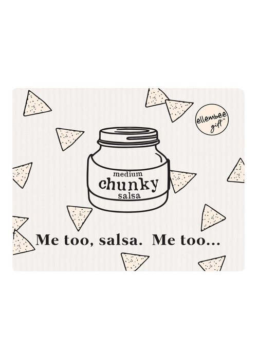 """Me too, salsa. Me too..."" Funny Reusable Dishcloth"