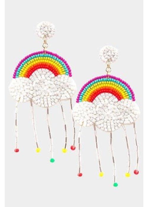 """Rainy Rainbow"" Dangle Earrings"