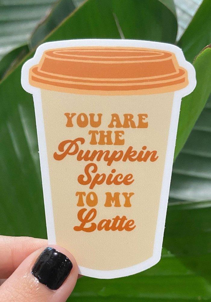 Pumpkin Spice Latte Vinyl Sticker