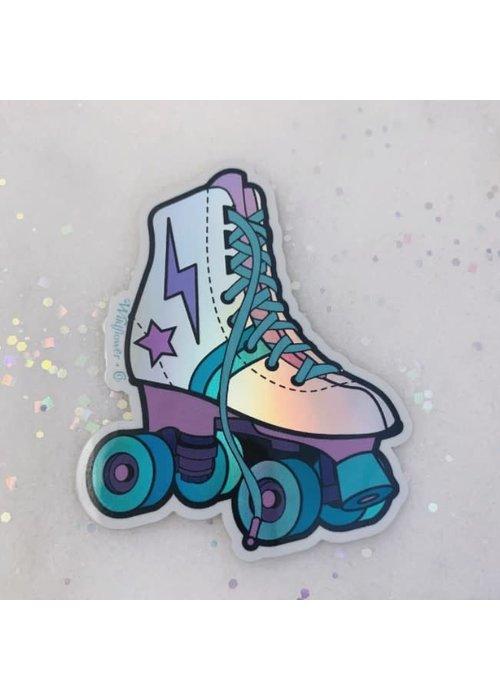 Holographic Rollerskate Sticker