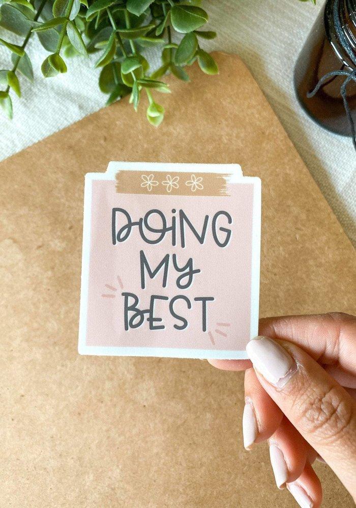 """Doing My Best"" Post-It Vinyl Sticker"