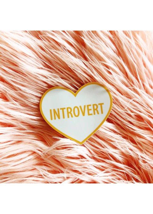 """Introvert"" Heart Vinyl Sticker"