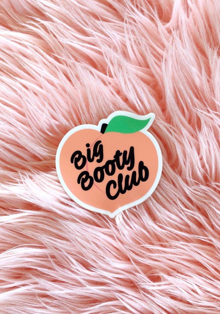"""Big Booty Club"" Vinyl Sticker"