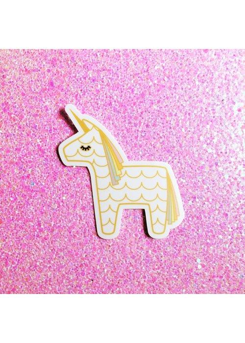 Unicorn Piñata Vinyl Sticker