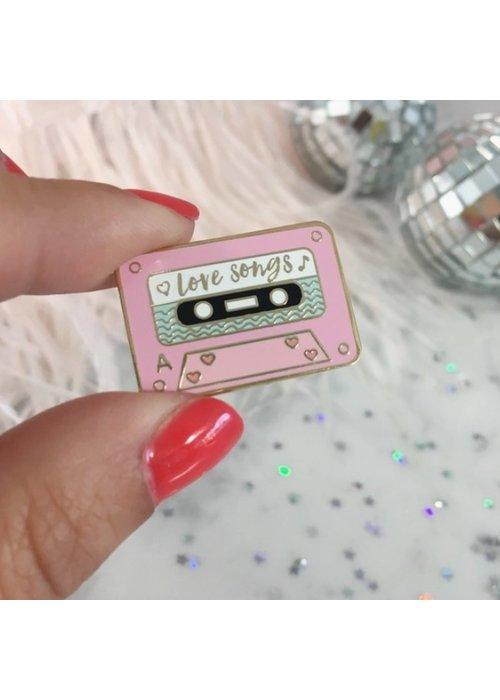 """Love Songs Mixtape"" Gold-Plated Enamel Pin"