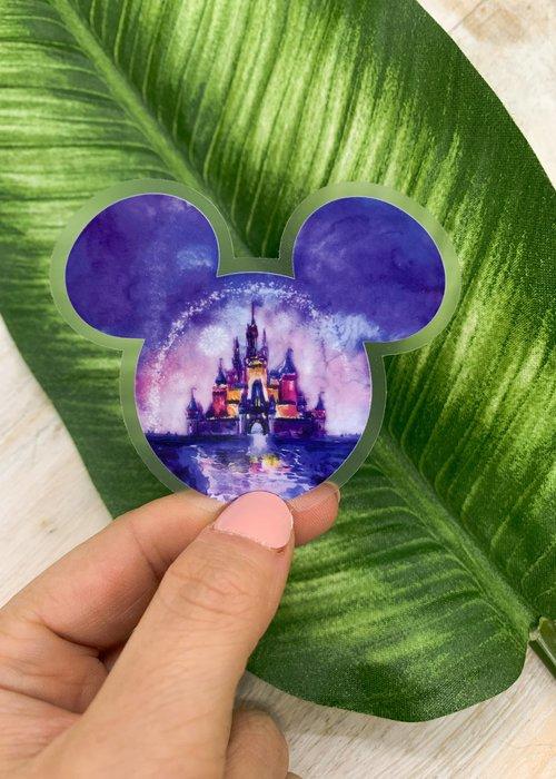 Purple Princess Disney Vinyl Sticker