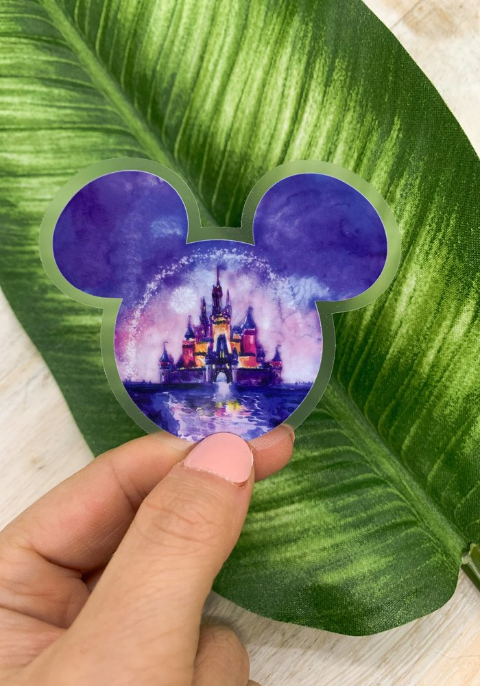 Purple Princess Disney Sticker