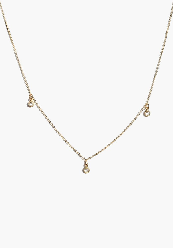 Triple Stella Drop Necklace
