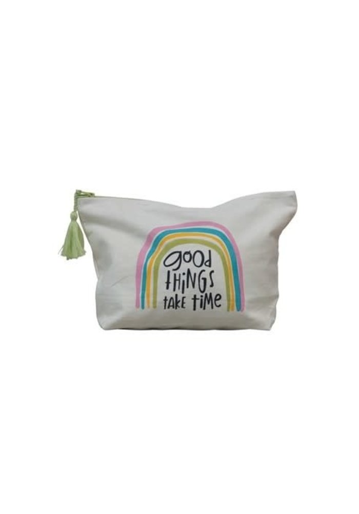 """""""Good Things Take Time"""" Motivational Tassel Pouch"""