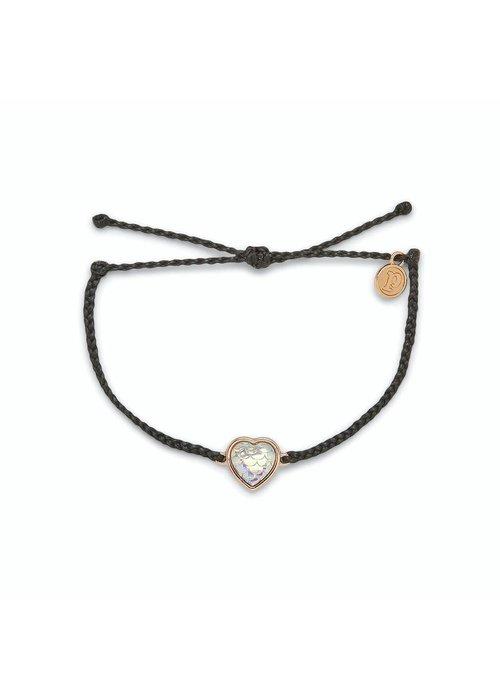 Pura Vida Rose Gold Faceted Mermaid Heart Bracelet