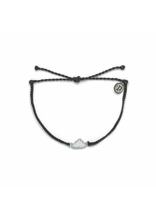 Pura Vida Silver Opal Cloud Bracelet Black