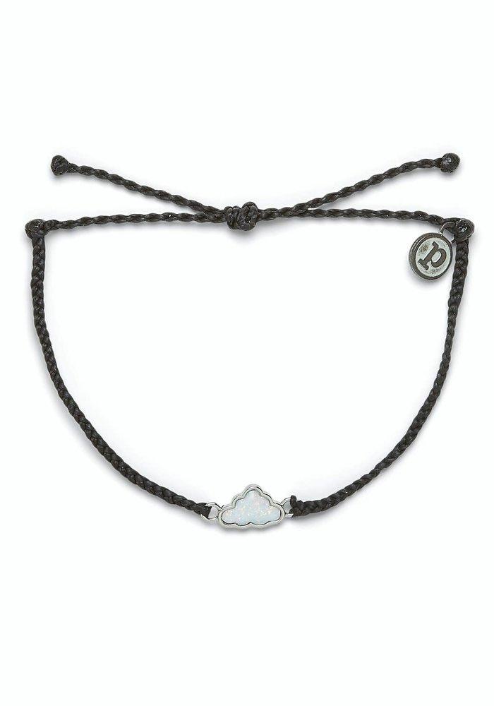 Silver Opal Cloud Bracelet Black