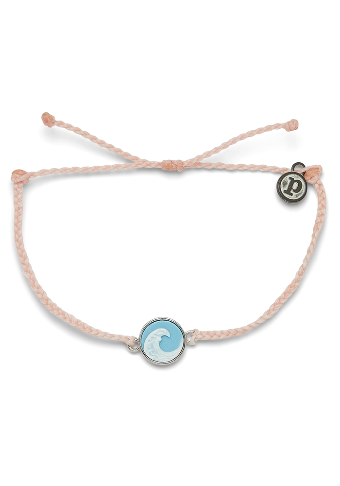 Wave Cameo Charm Bracelet