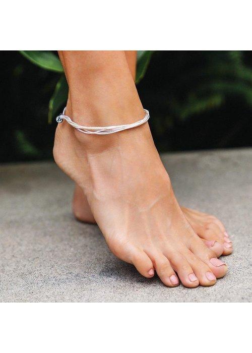 Pura Vida Original Anklet White Sands