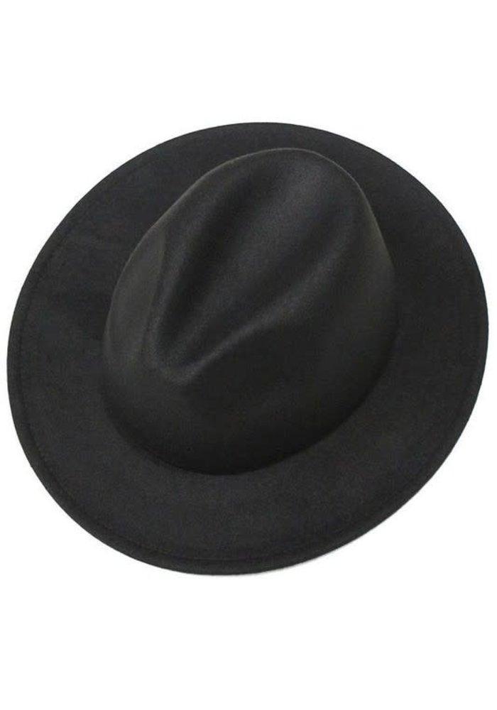 Black Felt Panama Hat
