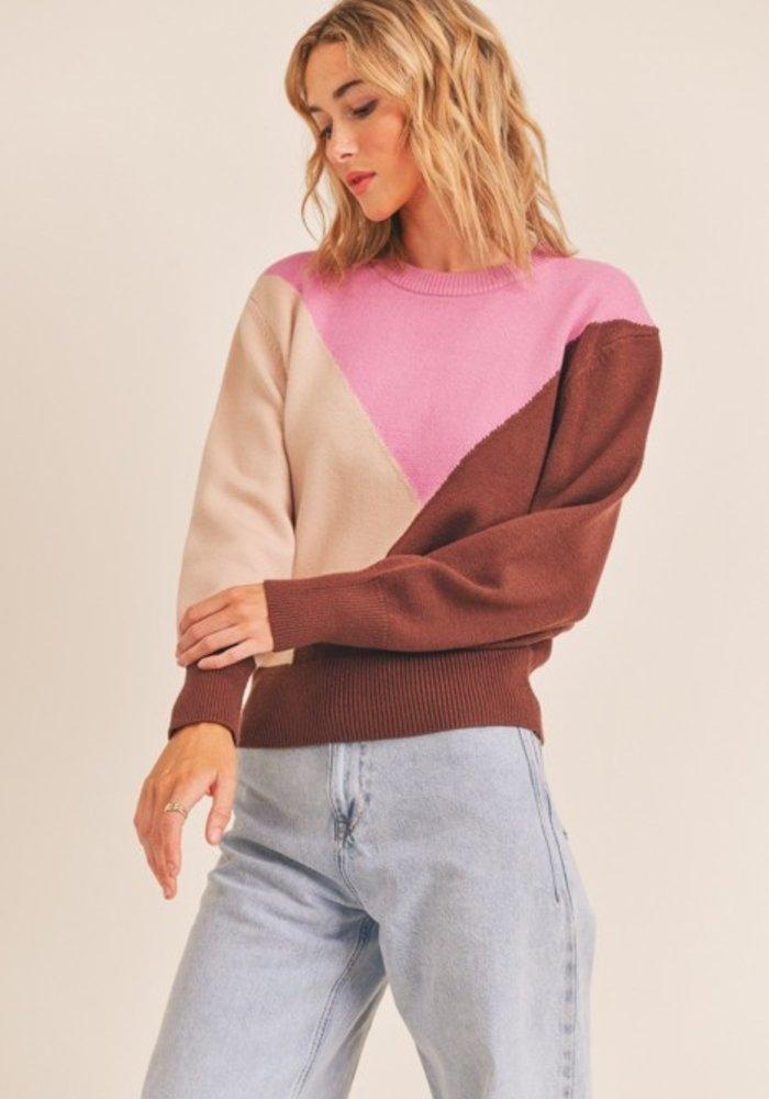 Neapolitan Color Block Sweater