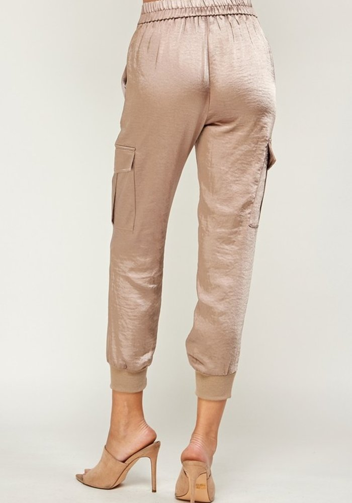 Satin Jogger Pants