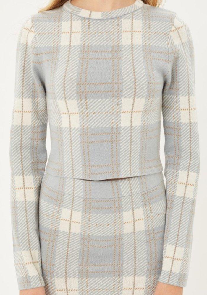 Plaid Sweater Set