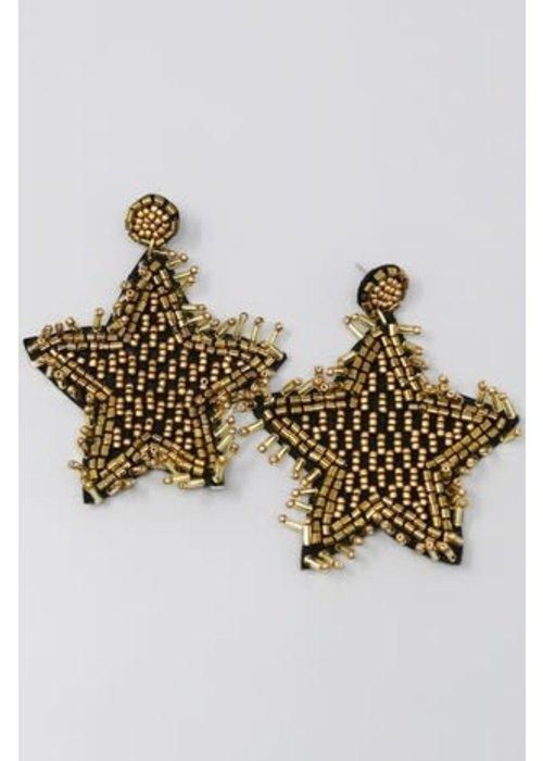 Beaded Star Earrings