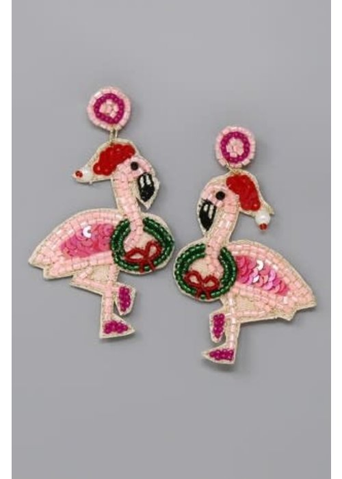 I'll Have a Pink Christmas Earrings