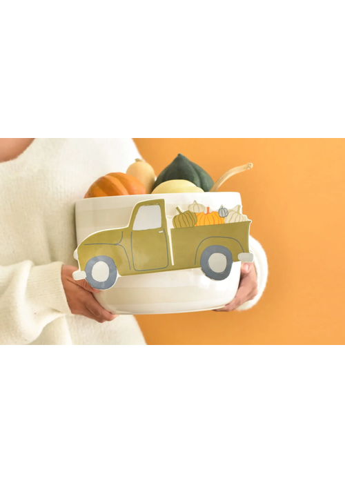 Happy Everything Pumpkin Patch Truck Mini Attachment