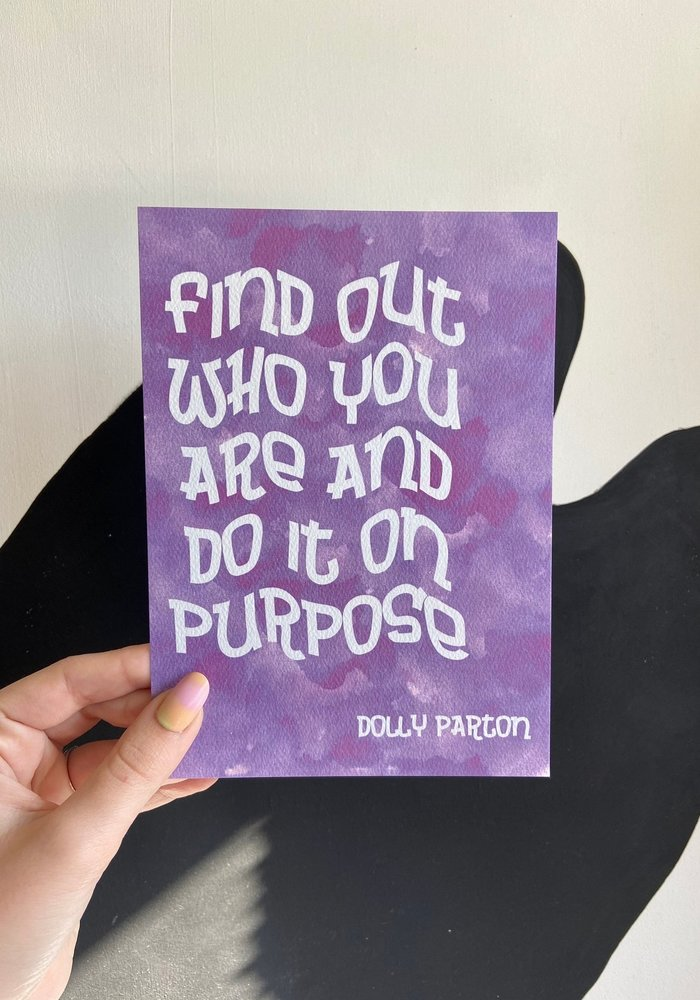Dolly Purpose Art Print