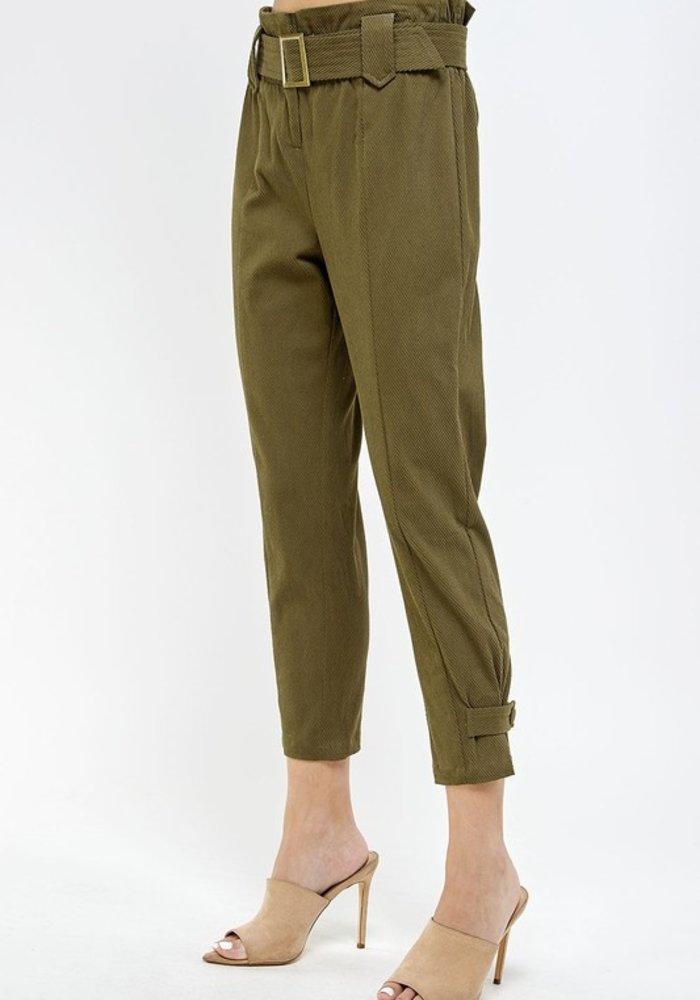 Corded Paper Bag Pants