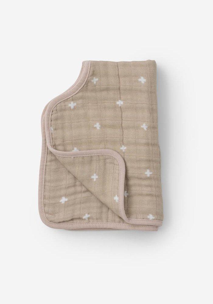 Taupe + Design Cotton Muslin Burp Cloth