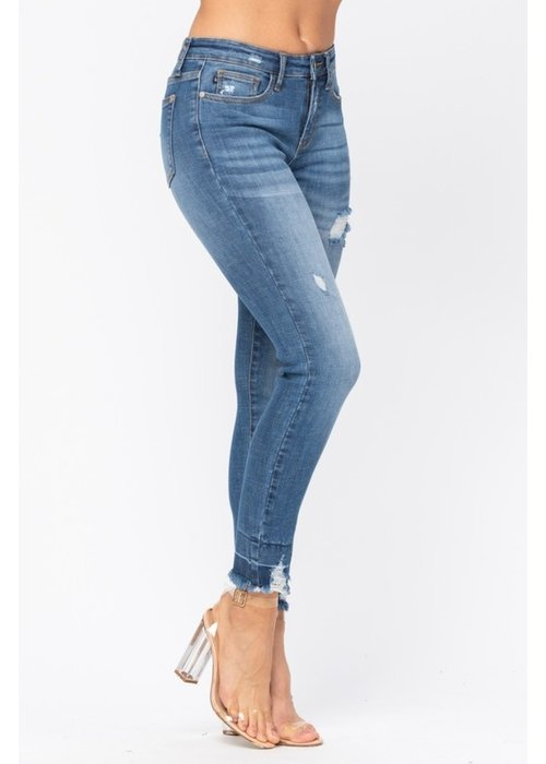 High-Waisted Plus Size Skinny Jeans