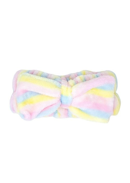 Plush Spa Headband - Pastel Stripe