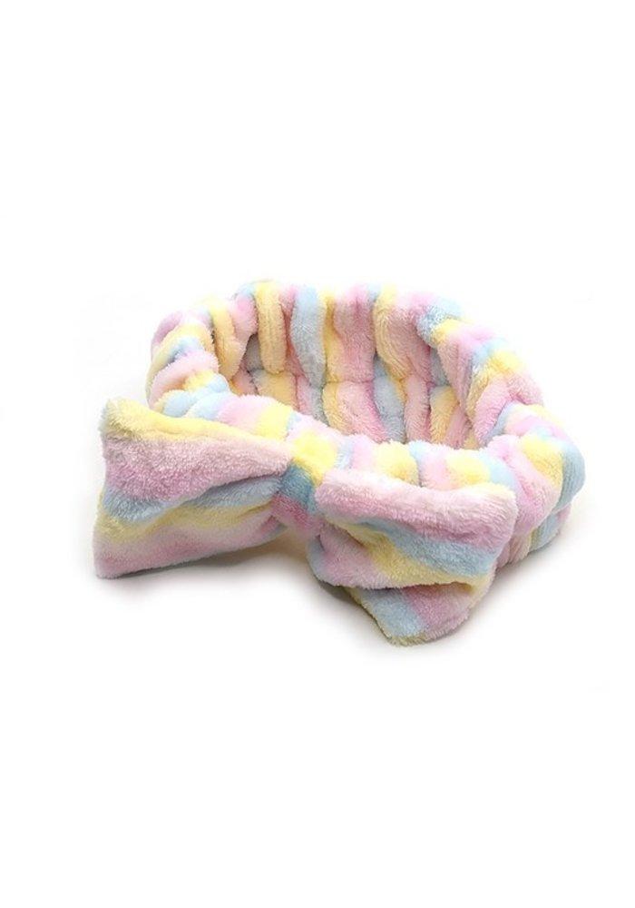 Pastel Stripe Plush Spa Headband