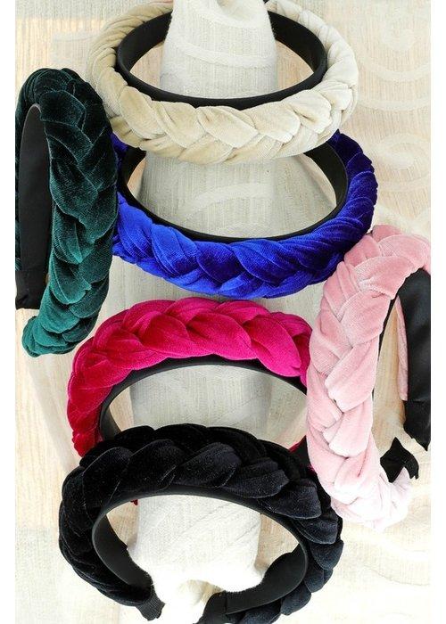 Braided Velvet Headband
