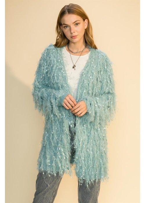 Feathered Long Line Jacket