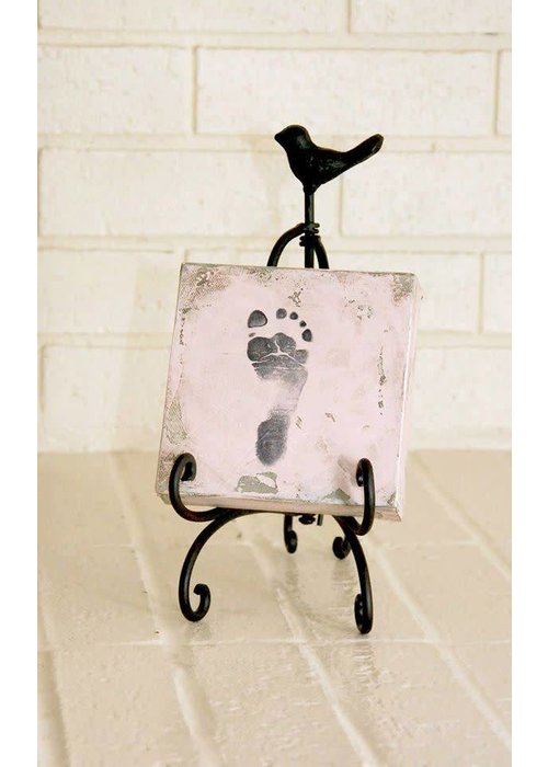 Green Birdie Baby Print Canvas