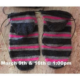 Class - Sock - Two at a Time Saturday, March 9th & 16th @ 1:00pm