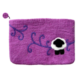 Frabjous Fibers Felted Bag - Swirl Sheep