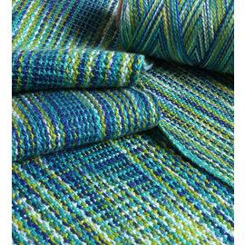 Ashford  Wheels and Looms Caterpillar Cotton - 404 Paua  200gm cone