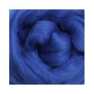 Ashford  Wheels and Looms Merino Sliver Fiber - 021 Blue 100 gram