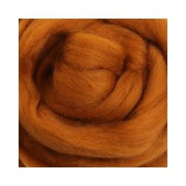 Ashford  Wheels and Looms Merino Sliver Fiber - 037 Toffee 100 gram