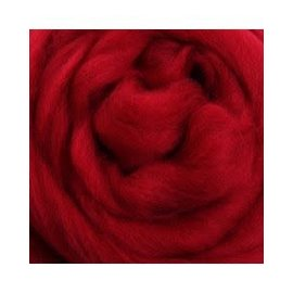 Ashford  Wheels and Looms Merino Sliver Fiber - 049 Cherry Red 100 gram