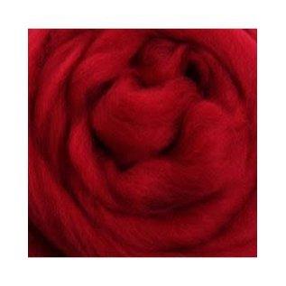 Ashford  Wheels and Looms Merino Sliver Fiber - 049 Cherry Red 100 gram