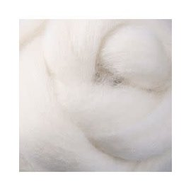 Ashford  Wheels and Looms Merino Sliver Fiber - 091 White 100 gram