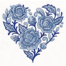 Wuthering Sheep Sock Sack Medium - Delft Blue Rose Heart