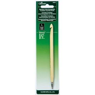 Clover Bamboo I/C Hook - US K / 6.5mm